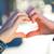szerelmespár · kezek · együtt · forma · szív · szeretet - stock fotó © nenetus