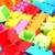 műanyag · építőkockák · fehér · épület · zöld · játék - stock fotó © nenovbrothers