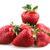イチゴ · 葉 · 孤立した · 白 · 葉 · フルーツ - ストックフォト © nenovbrothers