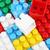 красочный · пластиковых · блоки · белом · фоне · белый · ярко - Сток-фото © nenovbrothers