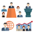 business people flat icons stock photo © neokryuger