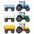 vetor · agrícola · trator · conjunto · isolado · branco - foto stock © neokryuger
