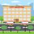 cidade · hospital · dois · ambulância · carros · estacionamento - foto stock © Neokryuger