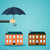 hand with umbrella protecting house stock photo © neokryuger