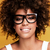 laughing african american girl with afro stock photo © neonshot