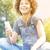genç · kız · park · rahatlatıcı · genç - stok fotoğraf © neonshot