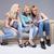 три · девочек · смартфон · молодые · блондинка · девушки - Сток-фото © NeonShot