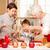 nagymama · unoka · konyha · karácsony · mosolyog · sütés - stock fotó © neonshot