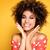 szépség · portré · mosolyog · lány · afro · fiatal - stock fotó © NeonShot