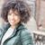 felice · african · american · ragazza · giovani · donna · sorridente · piedi - foto d'archivio © NeonShot