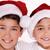 kids in santa claus hat stock photo © neonshot
