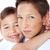 testvériség · szeretet · fiú · idősebb · lánytestvér · színes - stock fotó © neonshot