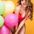 girl with balloons posing in studio stock photo © neonshot
