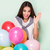 happy young woman with balloons stock photo © neonshot