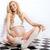 güzel · hamile · kadın · poz · genç · çekici · oturma - stok fotoğraf © NeonShot