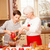 grandmother with grandchild in kitchen christmas stock photo © neonshot