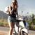 belle · femme · blonde · fille · équitation - photo stock © neonshot