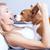 vicces · gyönyörű · kopó · kutya · nevet · izolált - stock fotó © neonshot