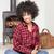 kız · afro · cep · telefonu · genç · kulaklık - stok fotoğraf © neonshot