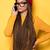 divatos · afroamerikai · lány · fiatal · visel · piros - stock fotó © NeonShot