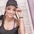 gyönyörű · fiatal · lány · mosolyog · fiatal · vonzó · nő · néz - stock fotó © NeonShot