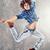 dans · karanlık · genç · modern · tarzda · dansçı - stok fotoğraf © neonshot