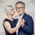 dança · casal · de · idosos · amor · feliz · isolado · branco - foto stock © neonshot