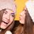 barátság · nővérek · csók · barátok · mosoly · gyerekek - stock fotó © neonshot