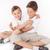 családi · portré · kettő · fiútestvérek · pózol · otthon · ölel - stock fotó © NeonShot
