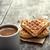 heart shaped waffles and coffee stock photo © nessokv