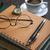 boglya · könyvek · pár · szemüveg · felső · közelkép - stock fotó © nessokv