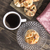 finom · sütemény · mazsola · fehér · fa · asztal · tekercsek - stock fotó © nessokv