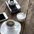 xícara · de · café · raio · mesa · de · madeira · insalubre · comer · objeto - foto stock © nessokv