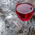 two glasses of red wine and christmas ornaments stock photo © nessokv