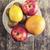 Rood · grapefruit · plaat · textuur · voedsel · vruchten - stockfoto © nessokv