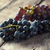 grapes on a old wooden table stock photo © nessokv
