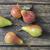 taze · armut · ahşap · masa · olgun · ahşap · meyve - stok fotoğraf © nessokv