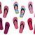 voeten · zomer · veel · kleurrijk · strand - stockfoto © nevenaoff