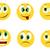 clásico · cara · sonriente · colores · amarillo · sonrisa · feliz - foto stock © nevenaoff