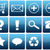 blue glossy web icon set stock photo © newt96