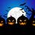 halloween · vector · schedel · zwarte · raaf - stockfoto © nezezon