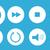 conjunto · equalizador · projeto · brilhante · botões - foto stock © nezezon