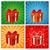 karácsony · szett · ajándékdobozok · izolált · zöld · elegáns - stock fotó © nezezon