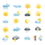 meteorologia · ícones · elemento · branco · sol · projeto - foto stock © nezezon
