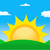 vector illustration of sunrise sun stock photo © nezezon