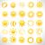coleção · verão · laranja · nascer · do · sol · desenho · animado · luz · do · sol - foto stock © nezezon