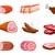 мяса · набор · иллюстрация · Cartoon · различный · частей - Сток-фото © nezezon
