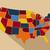 térkép · rózsaszín · USA · vektor · izolált · illusztráció - stock fotó © nezezon