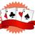 ベクトル · レトロな · カード · スーツ · デザイン · 赤 - ストックフォト © nezezon