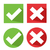 vector check mark icons stock photo © nezezon